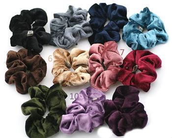 Pack of 20PCS Soft Velvet look Hair Scrunchies elastic Spring Hair Bands Ponytail Holder Free Shipping