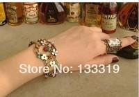 Hot Sell Fish Charm Chamilia Bracelet 925 Tibetan Silver Murano Glass For Women Fashion European Style Jewelry,free shipping