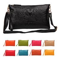 New 2014 Fashion Women Messenger Bags Handbag Genuine Leather Cowhide Crocodile Pattern Shoulder Bag Day Clutches  Famous Brands
