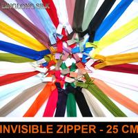 Invisible zippers/No3 25cm length/Sewing materials/Garment accessories/High intensity dress,pillow,cushion zipper/50pcs/lot