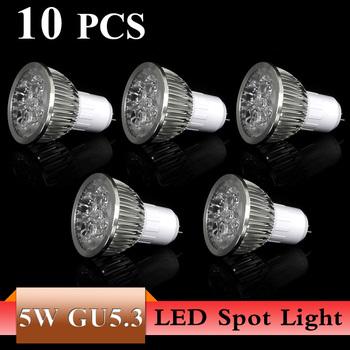 10X High Power LED Lamp quality assurance 5W GU 5.3 white/warm white LED Light Lamp Bulb Spotlight 5W LED Lamp Drop Shipping