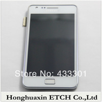 1PCS 9100 lcd with frame For samsung Galaxy S2 lcd digitizer full set WHITE 100% gurantee,Free shipping