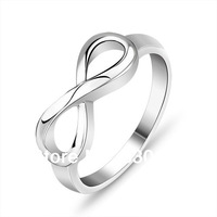 Wholesale silver 925 rings#CR1137 Retail  sterling silver Rings fashion Jewelry pure silver infinity ring