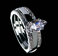 Fine Jewelry 1.25 CT SONA synthetic diamond ring Wedding rings 925 sterling silver 18K white gold Plated bridal engagement rings