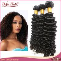 3pcs lot  Grade 6A cheap natural curly brazilian hair weave bundles free shedding and tangle human hair extensions befa hair
