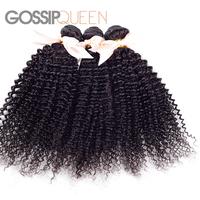 """6A grade indian virgin hair kinky curly unprocessed indian curly virgin hair 8""""-30"""" 3 pcs free shipping human hair weave"""