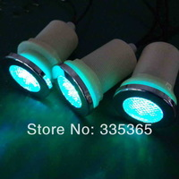 6pcs X underwater waterproof  LED chromotherapy lamp for bath tub / RGB led spa light 1.0w with 1pc light controller 1pc adapter
