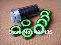 Free shipping 608 2RS skateboards wheel bearings  Appearance Blacken Anti-rust color cover Skate bearings green sealed ABEC-3