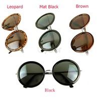 Hot Retro Restoring Round Frame Unisex Sunglasses New Female Men Sun Glasses Vintage 4 Colors 18235