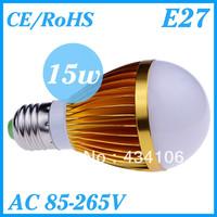 10PCS/Lot Cree E27 Led 9W 12W 15W Bulb E27 Socket Led Lamp Led Light Led Downlight AC85-265V CE/RoHS Ultra Bright,Free Shipping