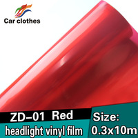 High Quality 0.3X10m Stickers Decoration Decal Full Body Tinting Film Headlight