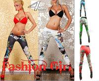 2014 Sale Winter Leggings Dhl free Girls for Graffiti Love Brid And Rose Print Sexy Seamless Pants Tattoo Skinny Slim 4 Colors