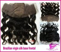 Brazilian body wave silk base frontal,virgin hair free part lace frontal with baby hair,13x4 lace frontal closure bleached knots
