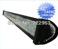 "42"" 240W LED Light Bar Off-Road 9-32V Boat 80-LED*(3W Epistar) Spot Flood Combo Beam Jeep Truck Lamp IP67"