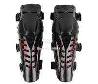 2Pairs/Lot Wholesale Motocross Protector Motorcycle Motorbike Racing Knee Pads Guard Protective Gear Black&Red B16 TK0760