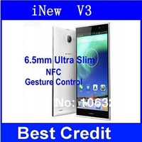 In Stock Original Inew V3 Plus Octa Core Mobile Phone inew V3 5.0'' IPS Screen 2G RAM 16G ROM Android 4.2 13MP NFC OTG 6.5mm/Eva