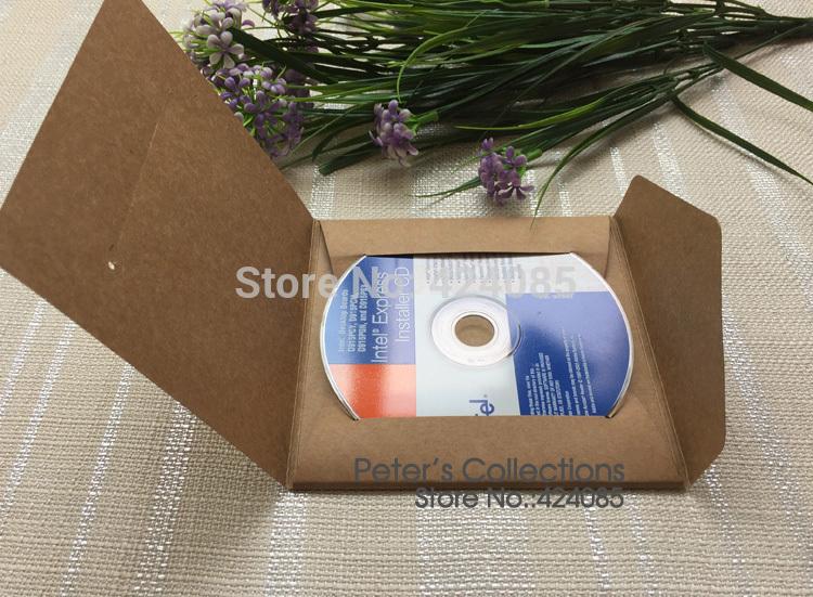 FREE SHIPPING 10 PCs Quality Kraft Paper CD DVD Case Envelope Sleeve CD Bag Holder Cover(China (Mainland))