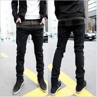 2015 hot sale spring autumn fashion cotton men's skinny low-waist pencil pants vintage classic male jeans homens calcas