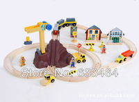 Thomas Train track set Assembly Train 50 PCS High quality Wooden toys Educational toy Baby gift Free shipping