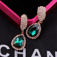 Luxury Free Shipping New Arrival Party Earring Wedding Gift Big  Women Drop Earring Jewelry Rhinestones Crystal Earring Brinco