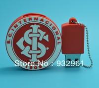 Retail  cartoon flash 2G/4G/8G/16G/32G cartoon football club usb flash drive cute stitch pen drive   Free shippingQL23