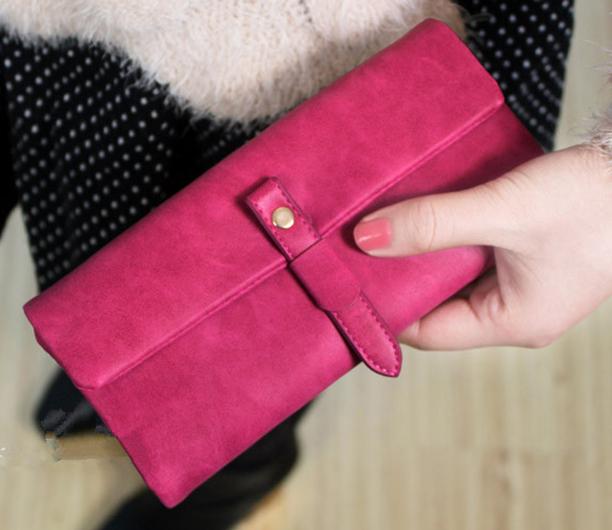 Wholesale dull polish hasp long women brand wallets carteira feminina pumping Zipper wallets women clutch purses free shipping(China (Mainland))