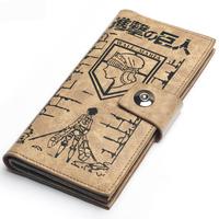 Anime Shingeki no Kyojin/ Attack on Titan Scouting Legion Eren Guaranteed 100% Khaki PU Leather Long Wallet
