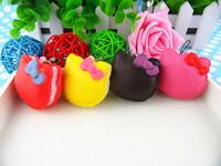New 5.5cm Kawaii Squishies Bun Bag Charm Wholesale Free Shipping Cartoon Hello Kitty Squishy Cake/Mobile Phone Chain/Phone Strap