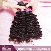 Deep Wave Peruvian Curly Virgin Hair 4Pcs Lot,100% Unprocessed Virgin Peruvian Hair,No Shedding No Tangle,Free Shipping
