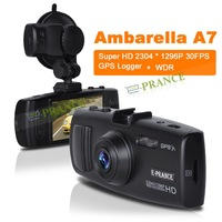 E-prance GS6000 Ambarella A7 Car DVR Recorder + Super HD 2304 * 1296 30FPS + GPS Logger + G-Sensor