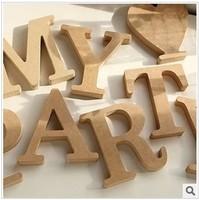 Unfurnished DIY Standing Wooden Letter Home Decoration Furnishing Articles Big Size Office Desktop Letter 10 *10*1.5cm 4pcs/lot