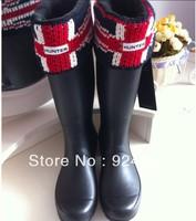 Free shipping rain boots flag socks,woman cotton rainboots socks,knee-high socks