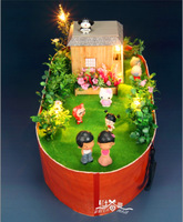 New Product Noah's Ark Diy Craft Doll Home Wooden Cabin Model New Exotic Toys/Miniatures for Decoration