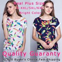 Hot Female Blouses Shirt S-XXXXL/5XL/6XL Plus Size Short Shirt Femininas Roupas Top Tee Women Clothing Casual Blouses Blusas