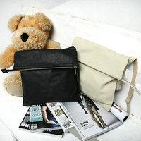 Preppy style soft PU leather men messenger bag,shoulder bag for male,fashion man cross body bags,unisex bag,black beige MB124