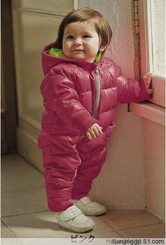 2015 Hot Sale Kids Warm Jumpsuit Children Padded Infant Puffer Jacket Siamese Newborn Baby Romper Climbing Suit Clothing Sets