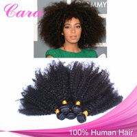 5A Mongolian Kinky Curly Hair Extensions Remy Human Curly Hair Natural Black 4/5PCS/Lot Free Shipping Rosaqueen Hair Product