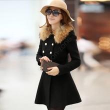 wholesale fur wool coat
