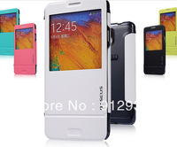 By BASEUS, high quality, soft leather case for Samsung galaxy note 3, N9000,free shipping