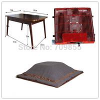 (4pcs/set) Free Shipping Home Furniture Living Room Set Foot Warmer For Winter Rectangle Kotatsu Table Futon Heater