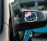 2 x Funny Hello Kitty Car Stickers Car Decal 11 X 8 CM  for Toyota Ford Chevrolet  Volkswagen Honda Hyundai Kia Lada