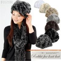 New Real Knit Rabbit Fur Hat Cap headgear headdress Brands Various Fashion Women  Factory Direct Christmas gifts Free Shipping