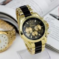 Geneva new Women watches brand Men quartz watch Fashion alloy wristwatches with steel band top quality-RA001