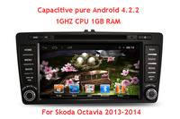 8 inch Capacitive Pure Android 4.2 Car DVD GPS Navi Car PC Headunit for Skoda Octavia 2013 2014