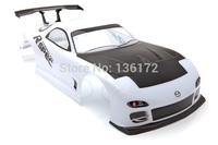 1/10 RC car  PVC painted Body Shell Mazda 200mm  White  No: 016W  free shipping