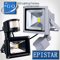 retail sale LED Flood Light  search projector light lamp 10W 20W 30W 50W 85-265V PIR Motion sensor Sense detective Sensor lamp