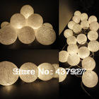 4.5M 35 Cream Tone latterns lights cotton ball string light for xmas festival decoration bar outdoor beautify(China (Mainland))