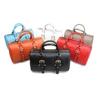 Free Shipping 2013 New Branded Fashion Boston bag cowhide handbag women's bucket handbag travel bag