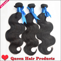 Beauty weft 3 bundles / lot  20% off wave hold more than 2 years , 6A grade 100% virgin unprocessed  brazilian hair body wave