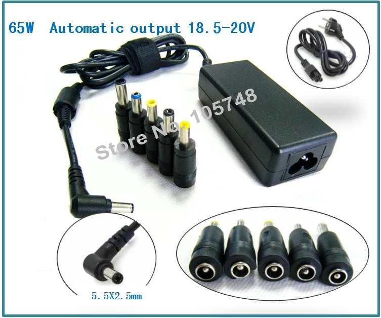 65W From 18.5V to 20V AC DC Universal laptop adapter power charger replacement compatibe with Acer Aspire/Asus/Fujitsu/SonyIBM(China (Mainland))